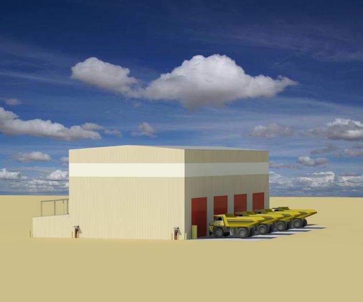 Hanlon Hycroft Vehicle Maintenance - Perspective 02