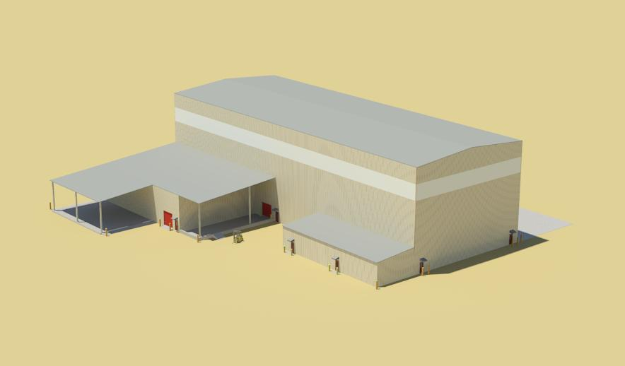 Hanlon Hycroft Vehicle Maintenance - Perspective 01