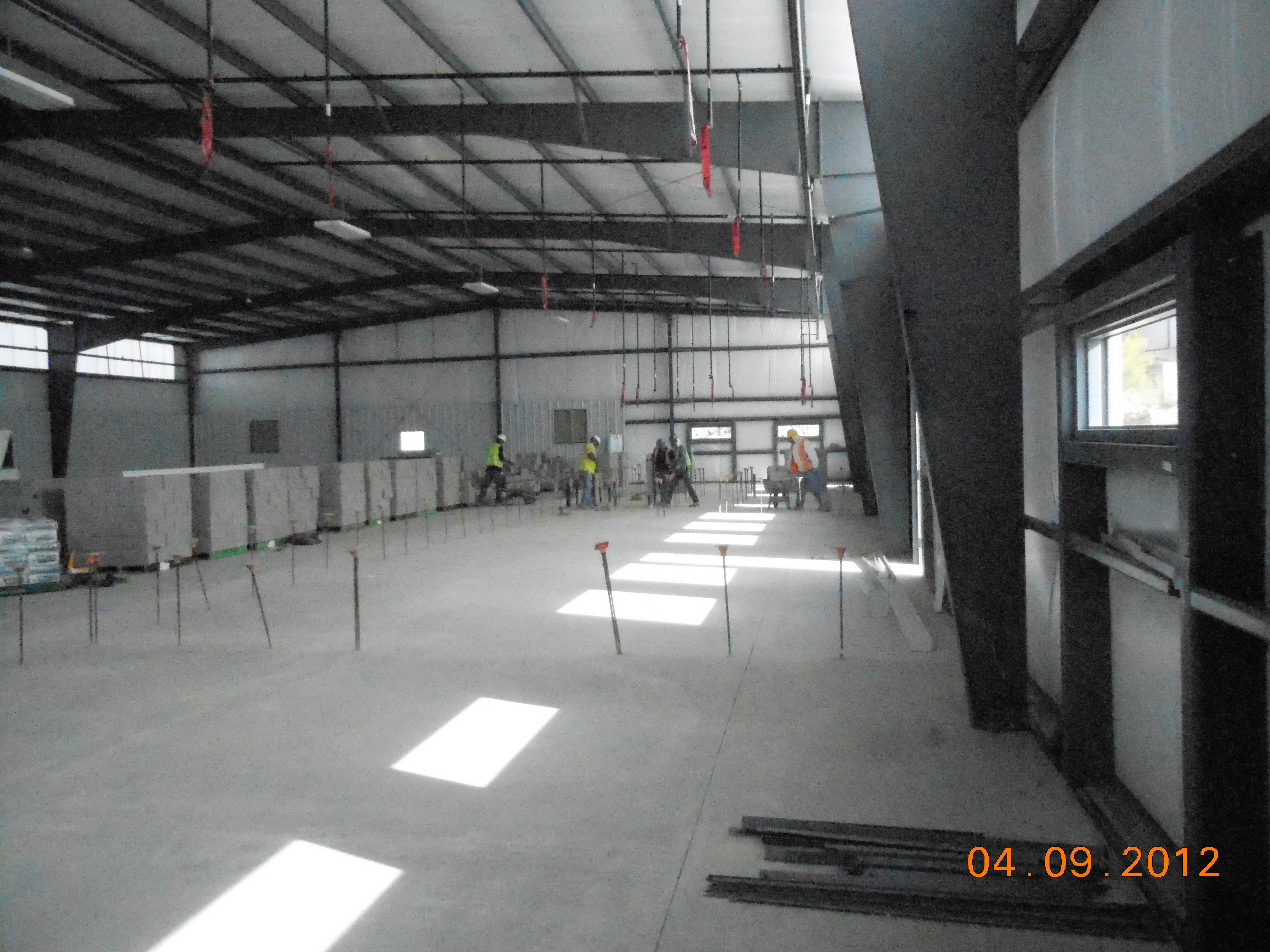Hanlon Engineering Prior to Internal Wall Construction