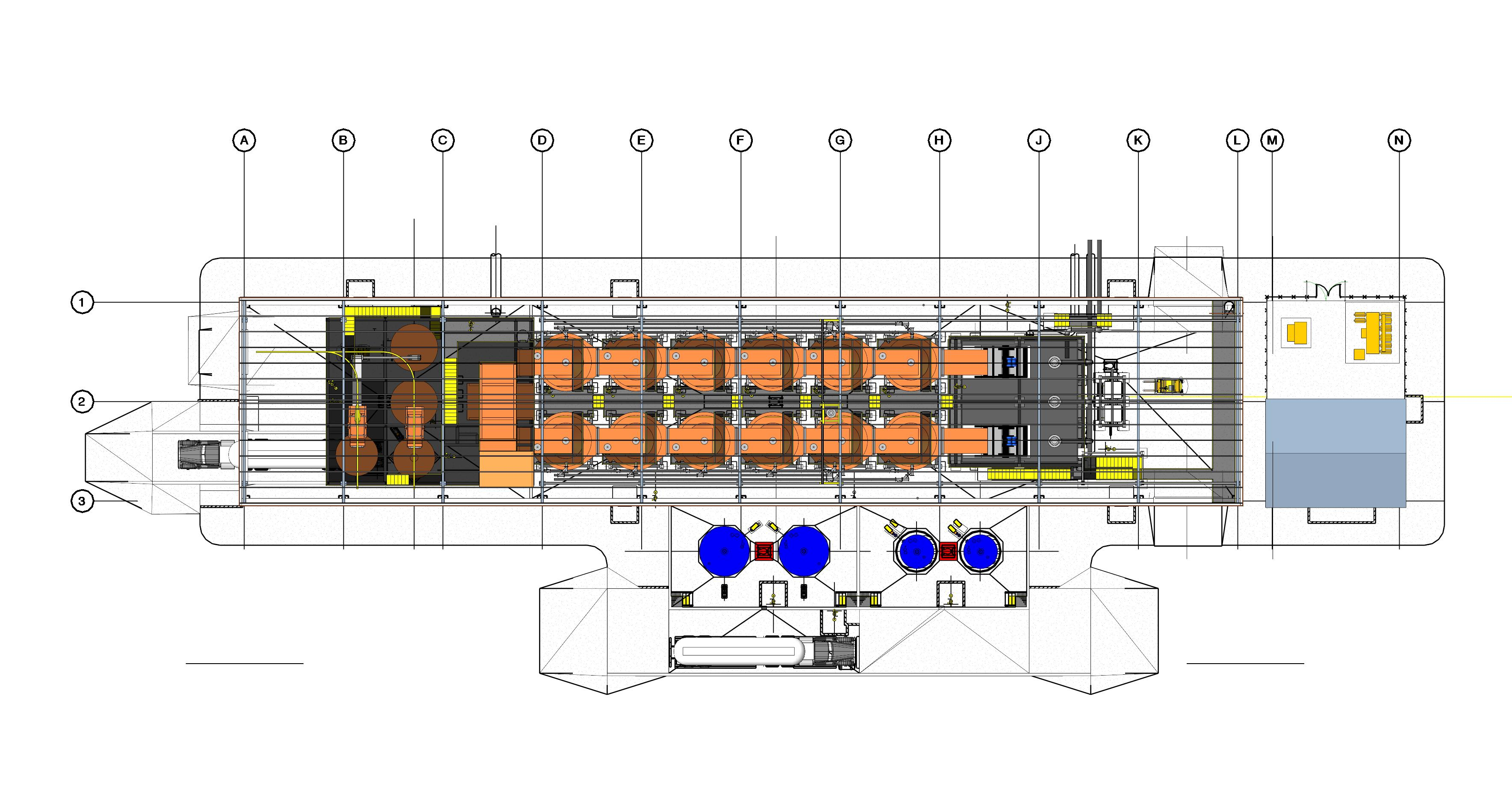 Carbon in Column - CIC  Project (plan view)