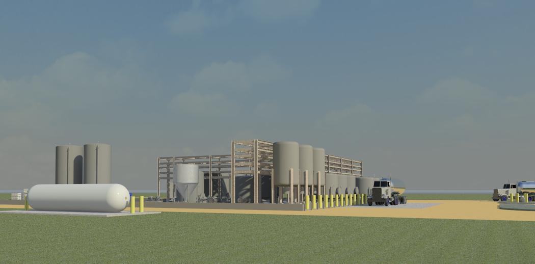 Uranium Mine & Process Plant Elevation