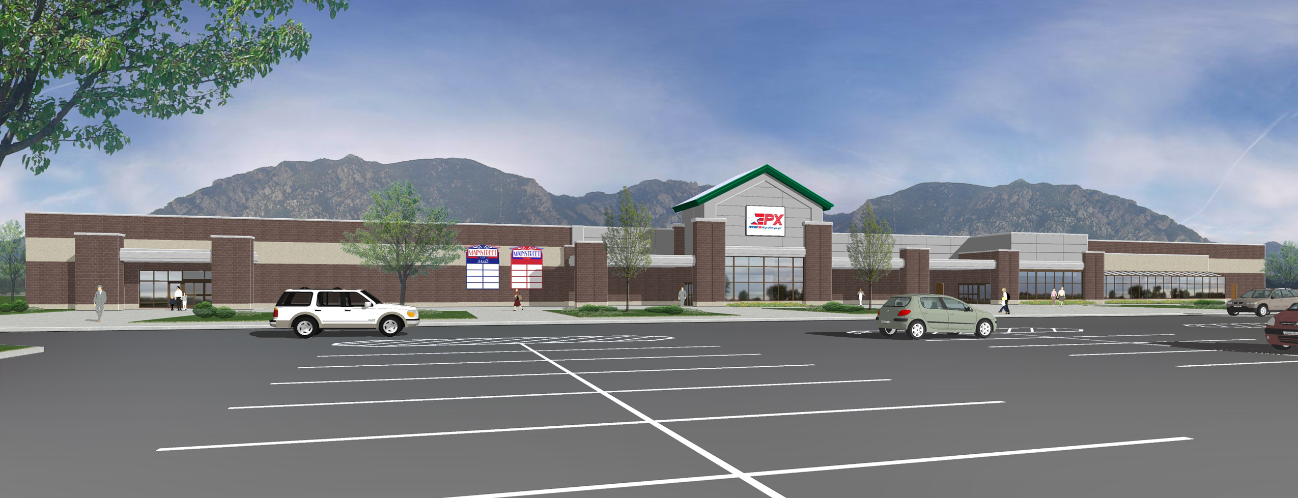 Hanlon Engineering Military Commissary Exterior Rendering