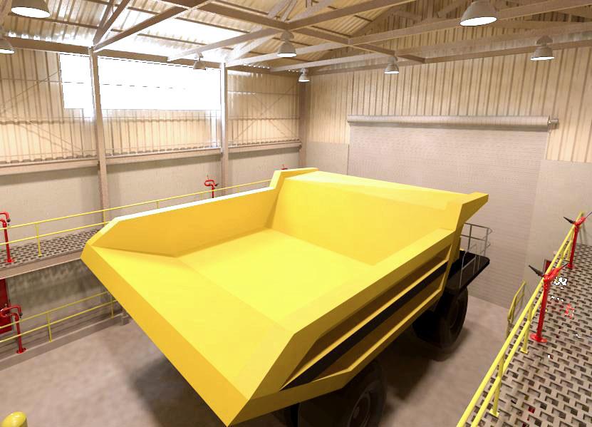Hanlon Rain Mine Truck Wash Interior
