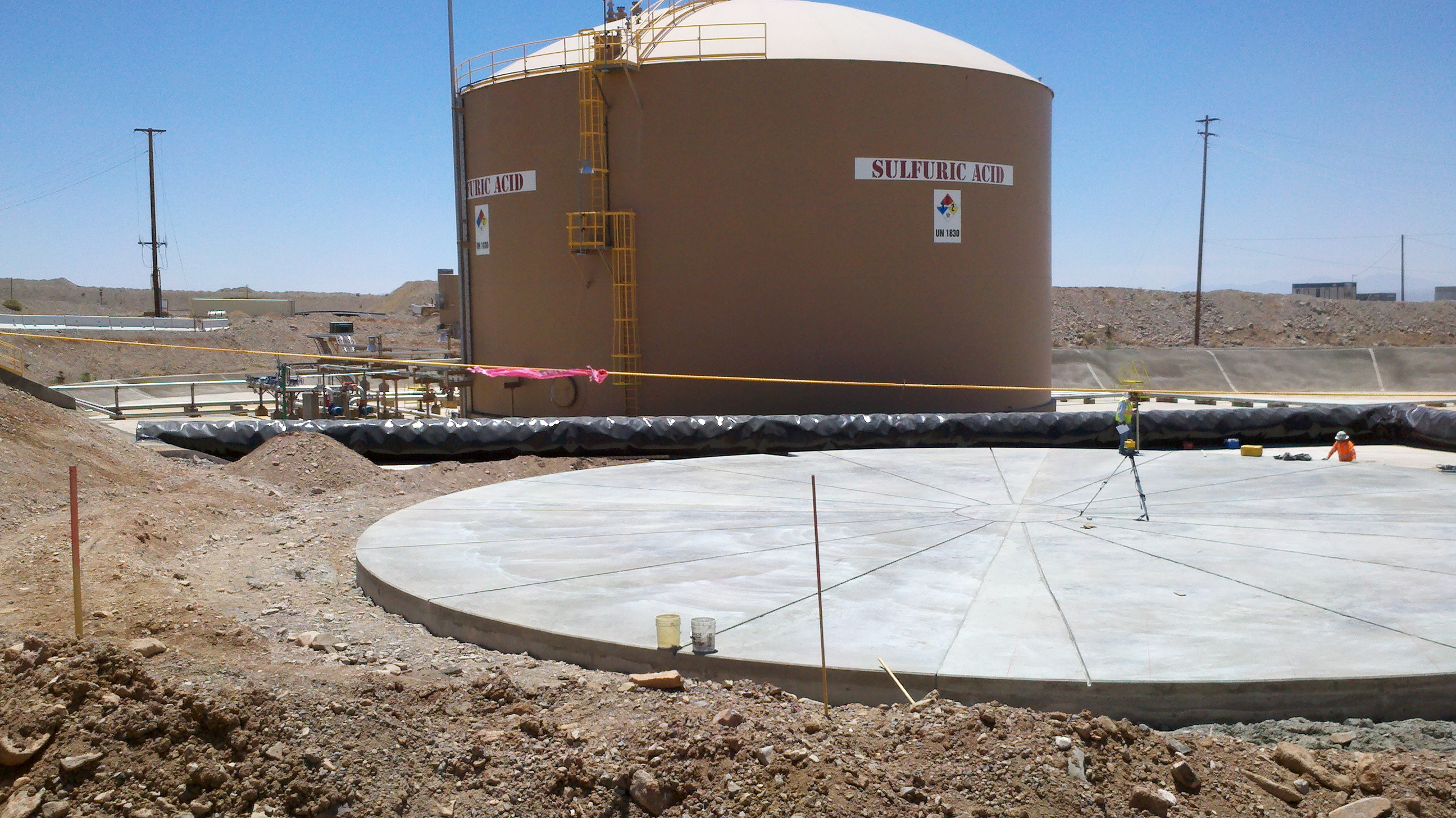 Hanlon Engineering 10,000 Ton Acid Tank Base