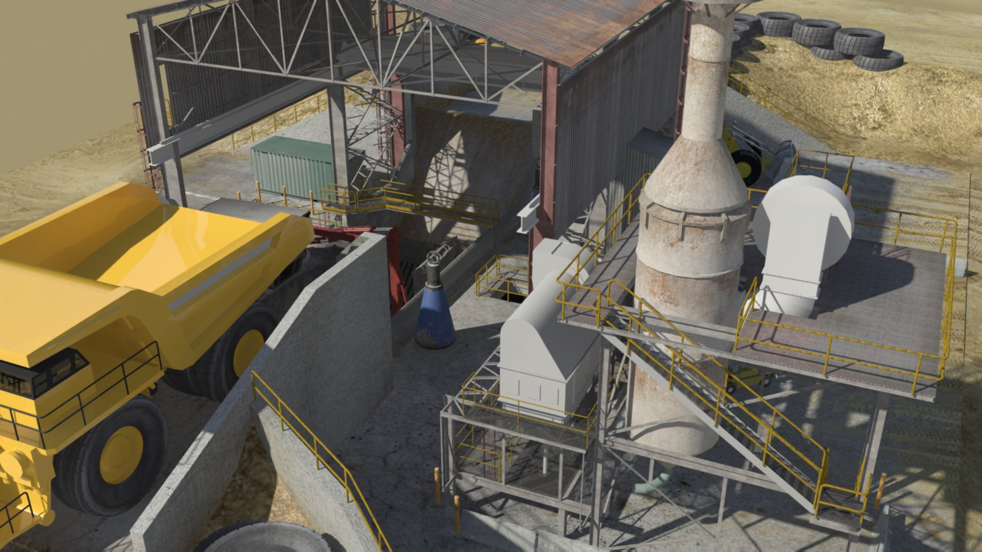 Hanlon Engineering Dump Pit & Dust Collector