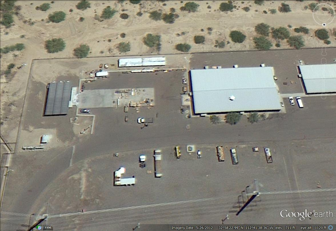 Hanlon Engineering Gila Bend Power Plant Aerial Warehouse Expansion Site